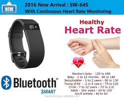 2016 New Fitness Tracker Heart Rate Wristband Smart Health Sport Watch Bracelet with Real Time Heart Rate Monitor,G Sensor Bands