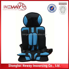 OEM color and design baby car seat cushion/ booster car seat cushion can print your logo