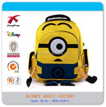 Hot selling minions despicable me kids cartoon cute backpack