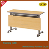 Foldable training desk/training table with wheels three people