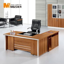 High teach luxury wooden small l shaped office desk size