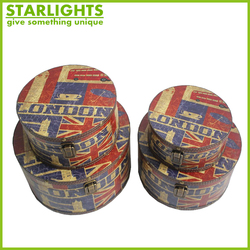 Wooden Hat Box Set & Union Jack Printing Design