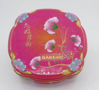 flower shape empty tin cans for cakes/biscuit/chocolate