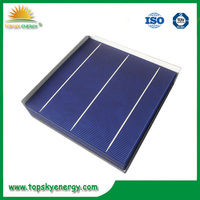 """17.2% efficiency 4.19w 6"""" inch 3BB A grade wholesale prices poly Solar Cell made in Taiwan"""