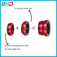 3 in 1 clip lens Circular filter+0.67X Wide angle+Fish eye+ Macro Lens fit for iPhone 5 5S Samsung Galaxy S3 S4 note 3 lens