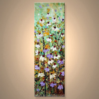 Modern Wholesale Flower Handpaint Picture Of Canvas For Hotel