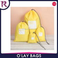 Fashion wholesale nylon polyester cotton fabric drawstring bag