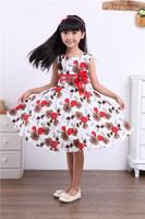 children boutique casual rose flower girl dress