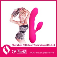 USB Rechargeable Rabbit Rotating Beads Adult Sex Toy Vibrator for Girls