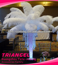 White Party Decoration Ostrich Feathers For Wedding Centerpiece