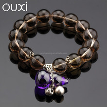 OUXI New arrival factory direct fashion wholesale Tea-coloured crystal bangle T30020