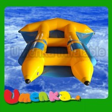 2015 Umenka 0.9mm PVC Material water inflatable fly fish boat for sale