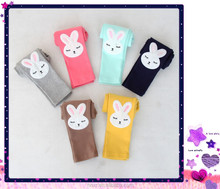 2015 children in spring new cartoon bunny leggings Han edition of candy color leggings of the girls