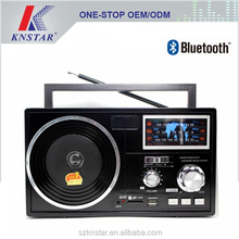 Portable AM FM SW 3 band radio receiver with bluetooth function