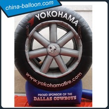 High quality inflatable tire model, advertising tyre, inflatable wheel with logo