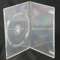 UW-DS-011D 9mm DVD box with clear color,one dvd disc storage