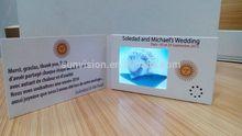 """2.4 tarjeta de video """"para la invitación de boda, tarjeta especial de la boda"""