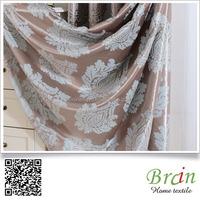 280cm Width 100% polyester leaf design jacquard blackout curtain fabric
