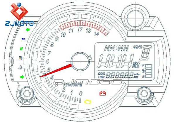 universal tachometer motorcycle meter blue lcd backlight digital rh alibaba com