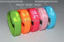 Hot selling silicone 16gb usb watch, led watch usb