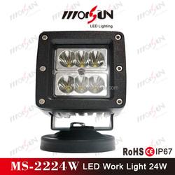 China Factory!!! 12v led light flood 24w, square cheap mini LED motorcycle light, 24w led work light