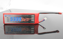 KAN 7.4V 5300mAh 25C rechargeable lithium battery for rc car, boat, airplane, rc toy or R/C model