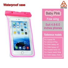 Waterproof Underwater Pouch Dry Bag Case Cover for below 6.0inch cellphone