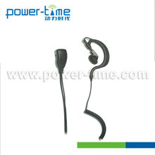 Data radio headset with G shape earhanger and double line PTT for Hotel, Walmart Staff.