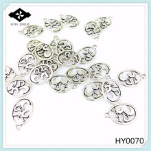 HY0070 Fashion Jewelry Findings Antique Silver Mala Charms Buddhism chakra alloy Pendant