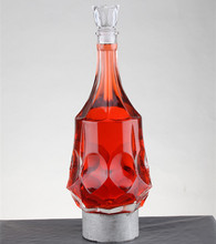 Wholesale 1.5 liter crystal glass cork large capacity vodka bottle