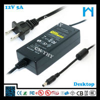 stabilizer power supply ac dc adapter for tablet pc computer ac power supply/dc power supply 12V 5A UL CE GS SAA 60W