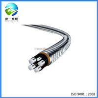 0.6/1KV 4+1 core XLPE insulated with interlock alloy power cable