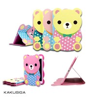 Newest Cartoon Bear smart protector leather case for iPad mini