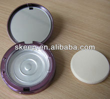 High quality make up mirror with puff box with colourful finish/led cosmetic mirror/acrylic mirror