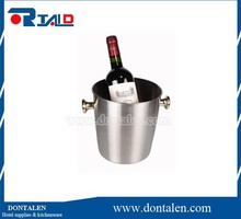 "Large Deep JR Solid Stainless Steel Wine Champagne Ice Bucket 10"" Cooler GREAT"