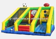 inflatable football basketball shot training frame,inflatable basketball backboard