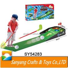 Wholesale indoor golf practice net kids mini golf set