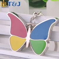 Butterfly Pendant Key Ring Interior Accessories Keychain Car Key Holder Cover Fashion Animal Insect Metal Charms Key Chains/