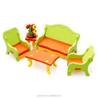 3D Assembling Mini Furniture Living Room Wooden Toy