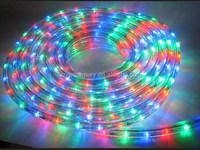 220V 240V 13mm Round 2 wires color changing IP65 design led rope light for holiday decoration