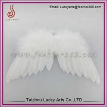 2015 white large feather angel wing for party decoration,goose feather angel wing
