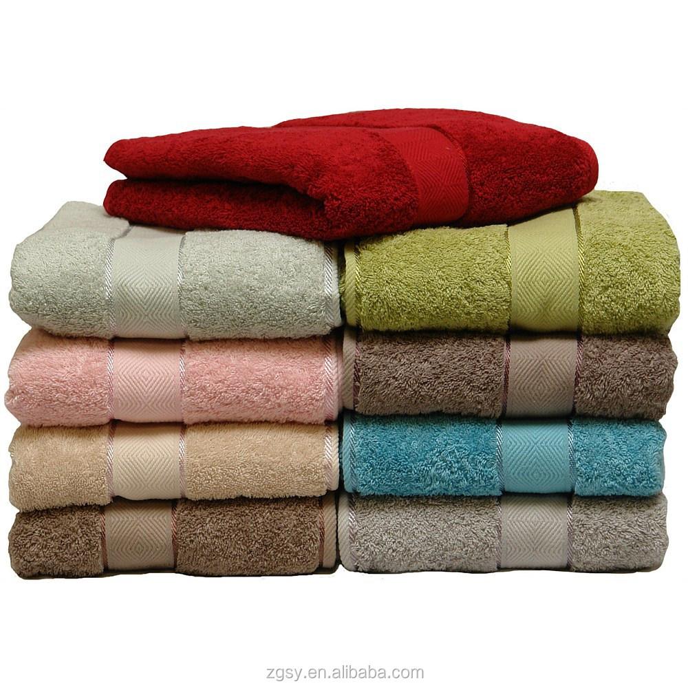 Jacquard bande motif z ro twist de haute qualit serviette de bain serviette id de produit for Serviette de toilette haute qualite