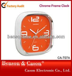 Chrome Frame Wall Clock Plastic Wall Clock