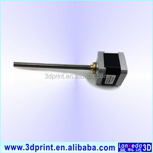 T8 threaded rod nema 17 stepper motor with lead screw for Threaded shaft stepper motor