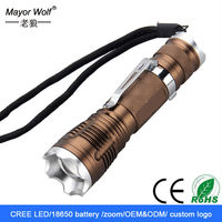 2015 New Design rechargeable Focus Zoomable LED Flashlight