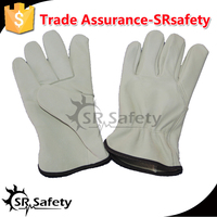 SRSAFETY cow driver leather glove safe working gloves / safety driving warm gloves / cow grain leather gloves,China supplier