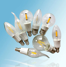 Kingfine 2015 C35 G45 A60 2W 4w 6w 8W filament led bulb sapphire base edison led bulb filament COB-G6028