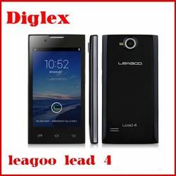 Original 4.0inch LEAGOO Lead 4 Android 4.2.2 MTK6572 Dual Core 1.0GHz 512MB ram 4GB rom Quad Band WCDMA GPS Smart Mobile Phone