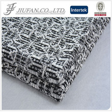 Jiufan Textile 2014 Hot Sale New Style Polyester Hacci Jacquard Knit Fabric For Garment Sweater