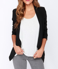 custom design fashion women cloth jacket new long sleeve black blazer